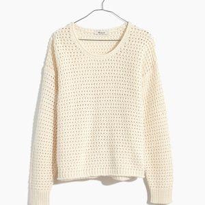 Madewell open-knit cream sweater